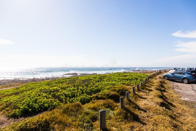 O farol de St Francis do cabo, África do Sul foto de stock