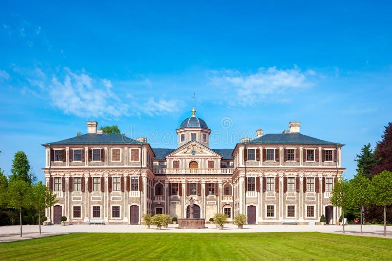 O favorito barroco do castelo em Rastatt Förch fotografia de stock