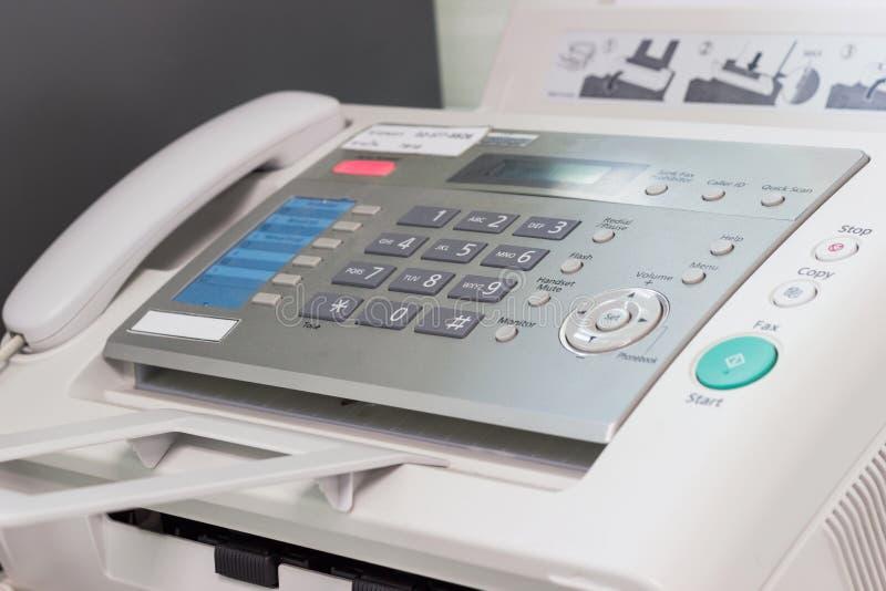 O FAX é uma tecnologia das comunicações usada para copiar fora de um original fotos de stock