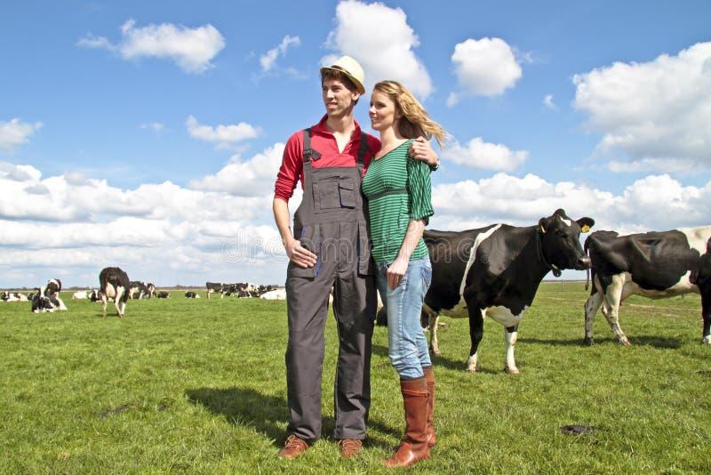 O fazendeiro e sua esposa fotografia de stock