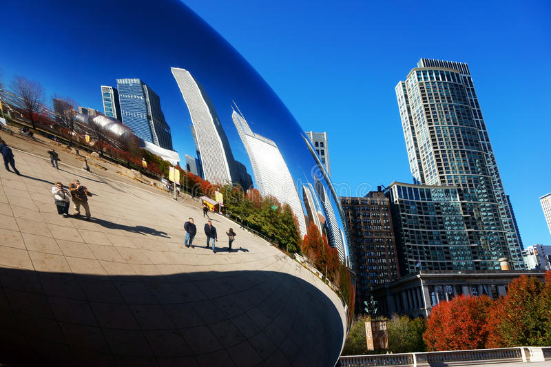 O feijão de Chicago, EUA fotografia de stock