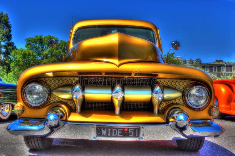 O ` 1950 feito sob encomenda do americano s Ford pegara o caminhão fotografia de stock