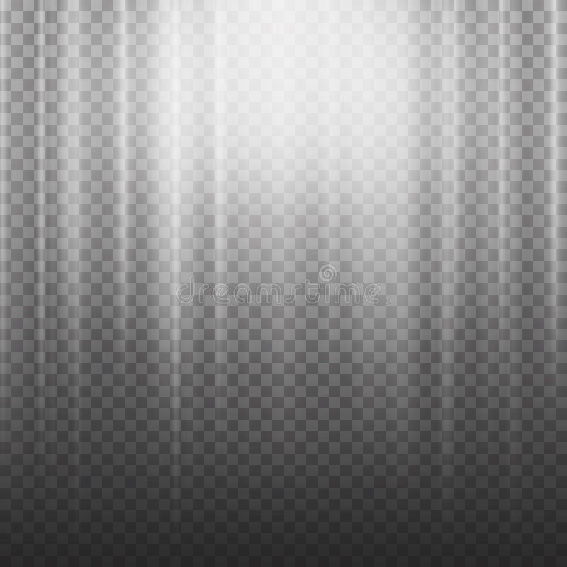 O feixe luminoso irradia o vetor Vetor do efeito da luz Luz da explosão dos raios Isolado no fundo transparente Ilustração do vet ilustração do vetor