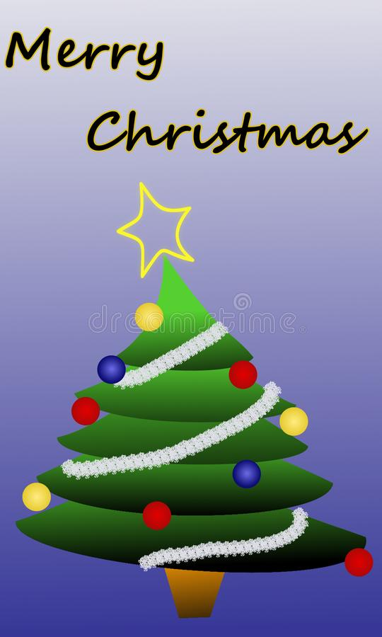 O Feliz Natal carda com árvore de Natal imagens de stock royalty free