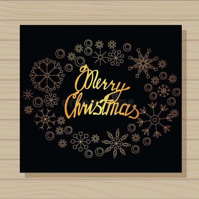 Download O Feliz Natal Carda No Fundo De Madeira Ilustração Stock - Ilustração de preto, christmas: 80101463