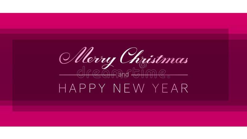 O Feliz Natal e o ano novo feliz entregam a rotulação tirada ilustração royalty free