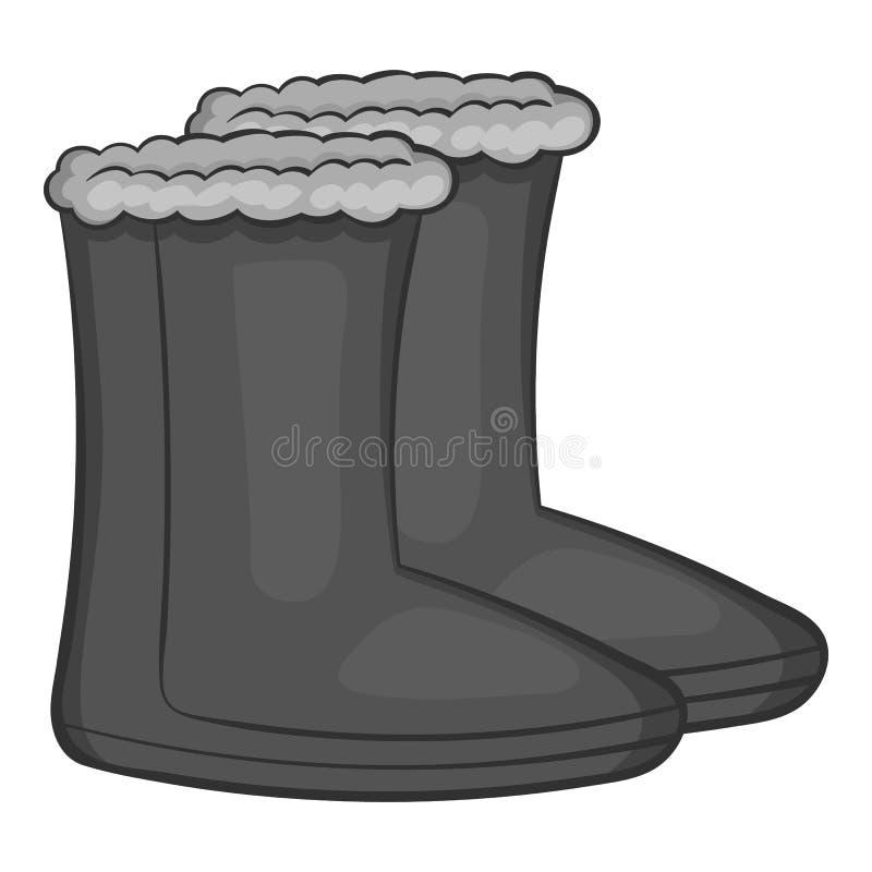 O feltro carreg o ícone, estilo do monochrome do preto ilustração royalty free