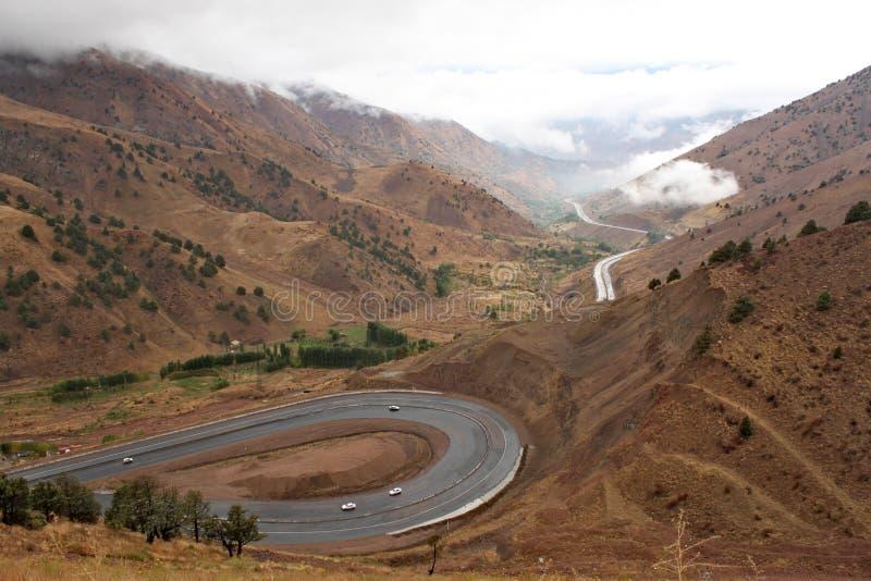 O Fergana Valley em Usbequistão fotografia de stock