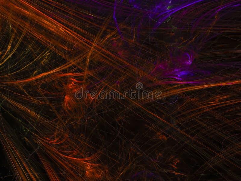 O feriado digital do molde do fundo da cor abstrata do fractal gerou o futuro criativo da bandeira ilustração do vetor