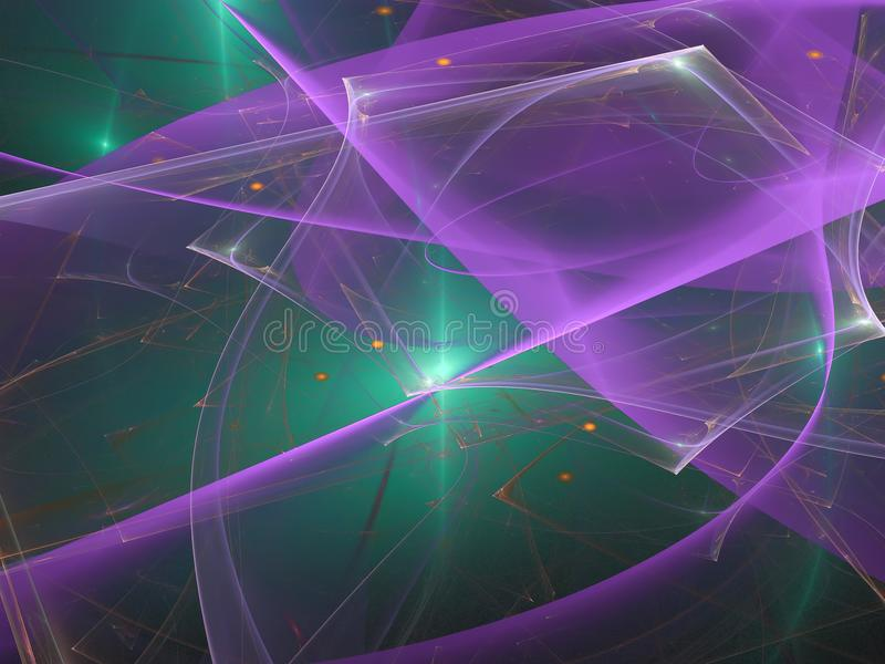 O feriado dinâmico do molde da ciência da decoração gráfica abstrata da tecnologia digital da cor do fractal gerou o futuro criat fotos de stock