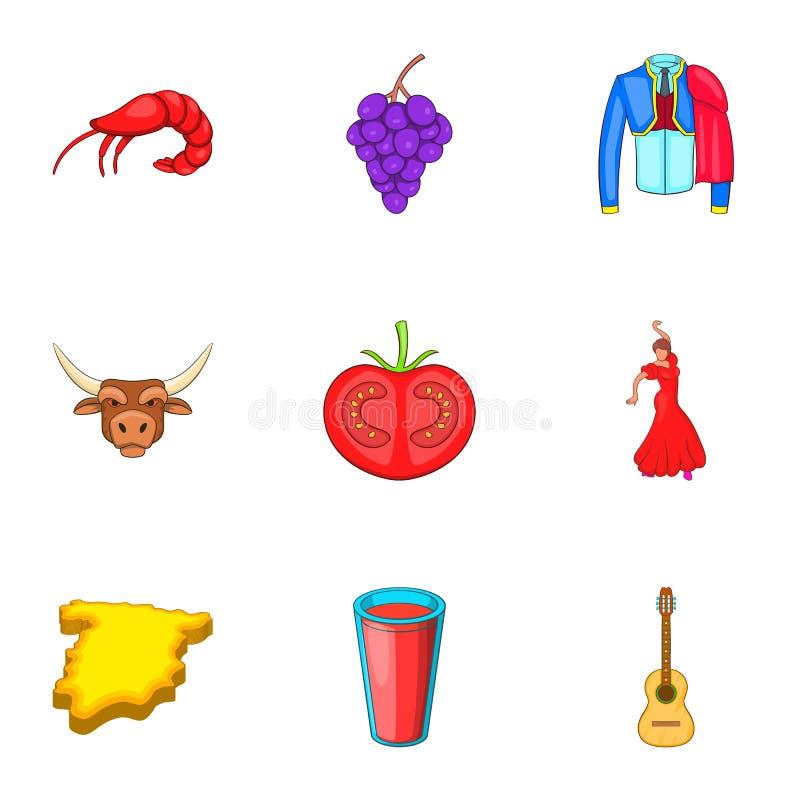 Download O Feriado Em ícones Da Espanha Ajustou-se, Estilo Dos Desenhos Animados Ilustração do Vetor - Ilustração de mapa, tenha: 80100959