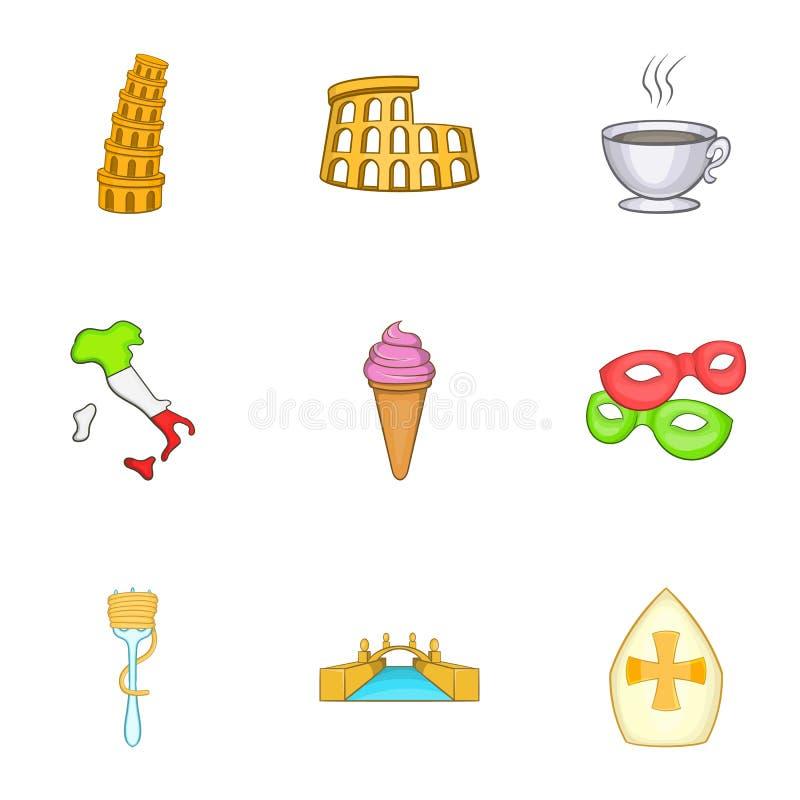 Download O Feriado Em ícones De Itália Ajustou-se, Estilo Dos Desenhos Animados Ilustração do Vetor - Ilustração de ícone, arquitetura: 80101403
