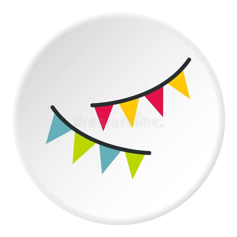 O feriado embandeira o círculo do ícone ilustração stock