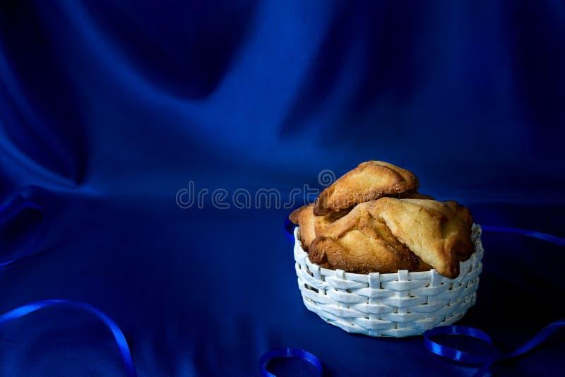 O feriado judaico de Purim, hamantaschen cookies fotografia de stock
