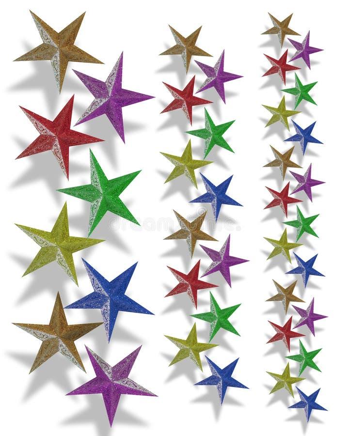 O feriado limita estrelas ilustração royalty free