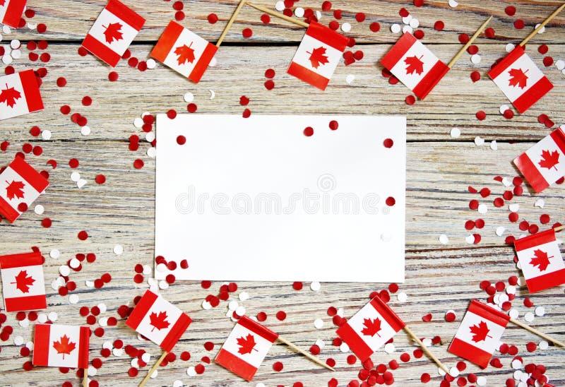 O feriado nacional do 1? de julho - dia feliz de Canad?, dia de autoridade, o conceito do patriotismo, independ?ncia e mem?ria, u fotografia de stock royalty free