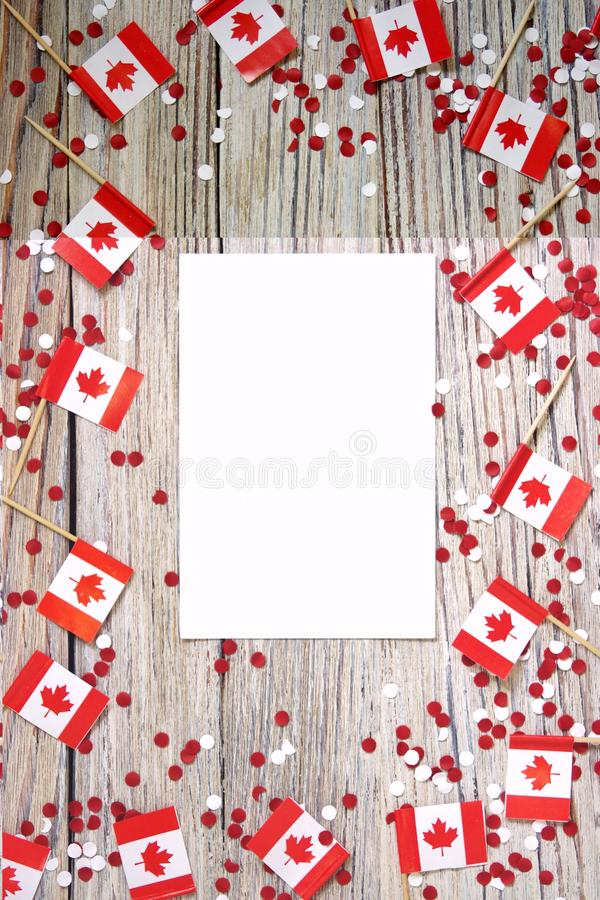 O feriado nacional do 1? de julho - dia feliz de Canad?, dia de autoridade, o conceito do patriotismo, independ?ncia e mem?ria, u fotografia de stock
