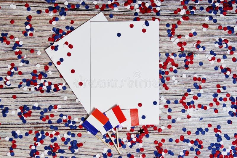 O feriado nacional do 14 de julho ? um Dia da Independ?ncia feliz de Fran?a, dia de Bastille, o conceito do patriotismo, mem?ria, imagens de stock royalty free
