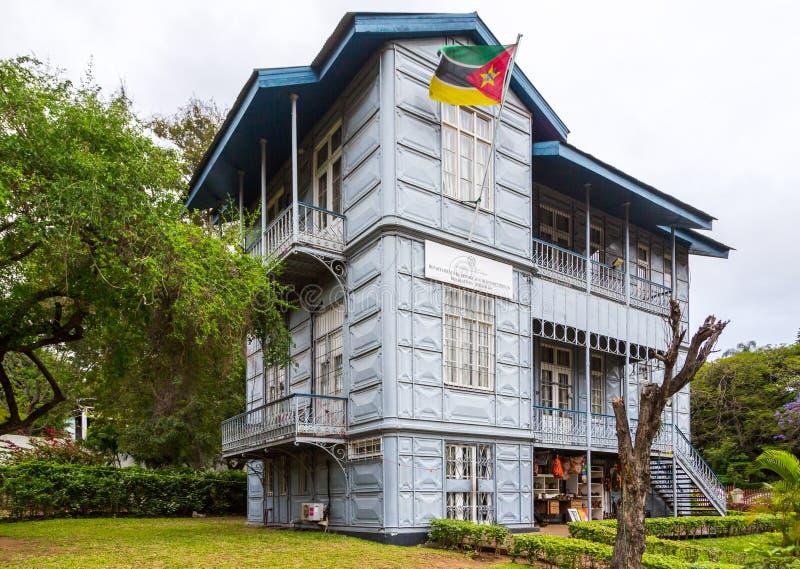 O ferro Casa Casa de Ferro, Maputo, Moçambique Mozambic fez inteiramente do ferro, projetado por Alexandre Gustave Eiffel imagens de stock
