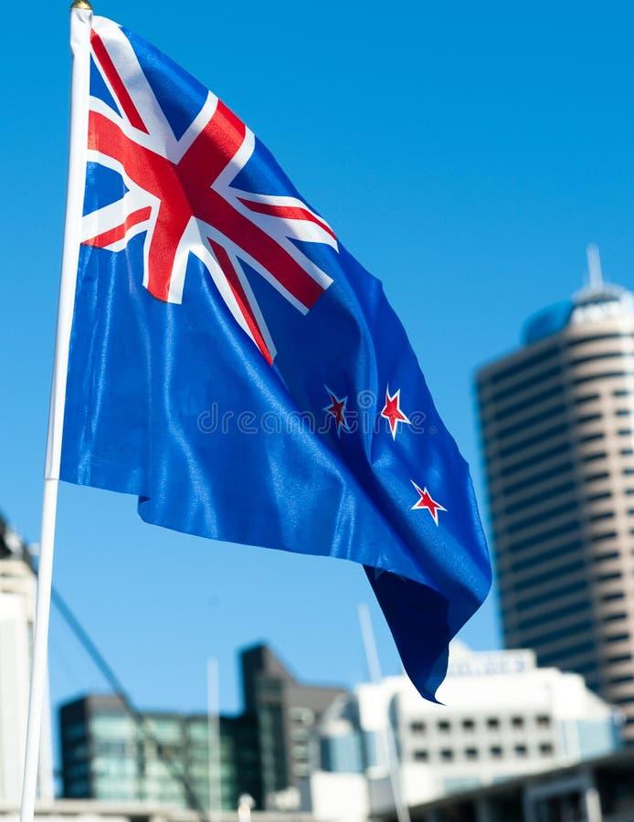 O fervor patriótico de RWC toma sobre Auckland imagens de stock