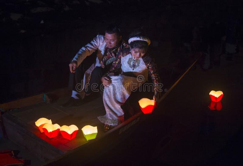 O festival de Hoi An Full Moon Lantern fotografia de stock