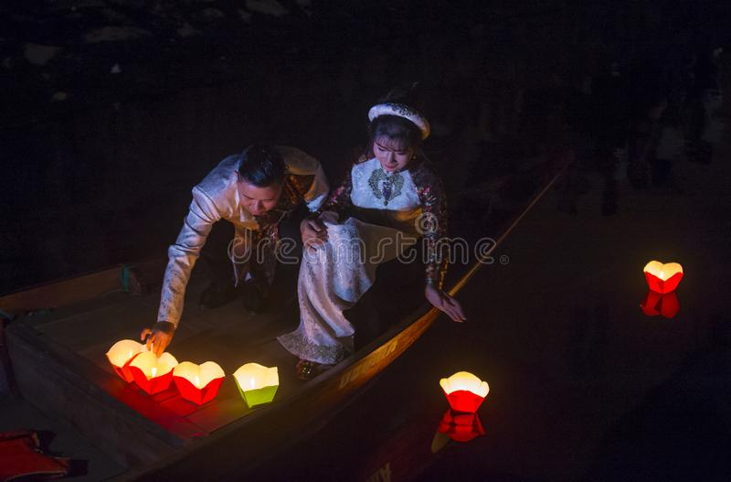 O festival de Hoi An Full Moon Lantern imagem de stock royalty free