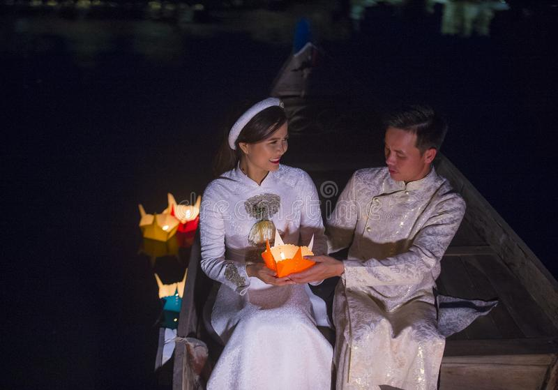 O festival de Hoi An Full Moon Lantern imagens de stock royalty free