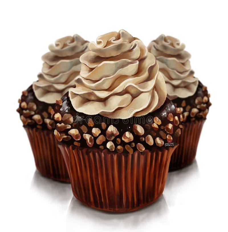 O feuillantine do chocolate, uma sobremesa gourmet do chocolate com creme e um chocolate contínuo crust fotografia de stock royalty free