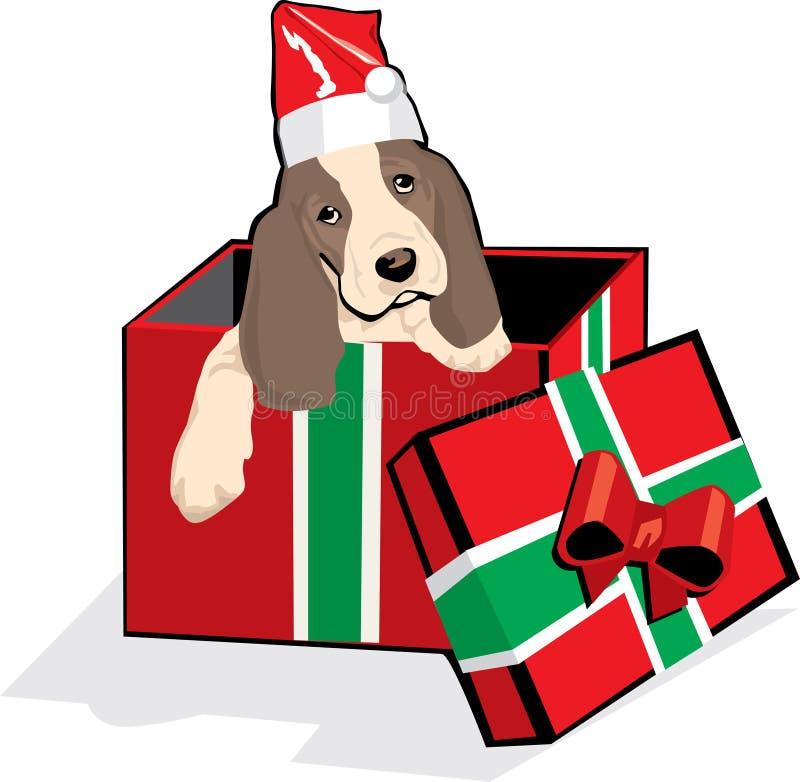 O filhote de cachorro é um presente perfeito ilustração stock