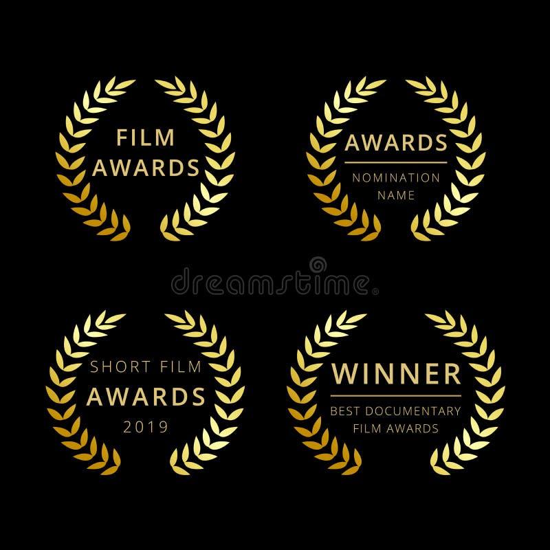 O filme concede o logotype ilustração royalty free
