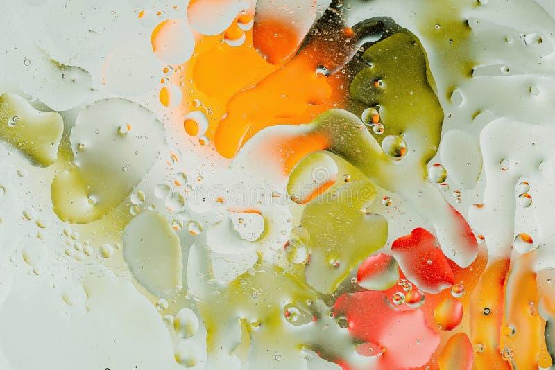 O fim bonito viewGreen acima, projeto abstrato colorido verde, vermelho, alaranjado, amarelo, textura imagens de stock