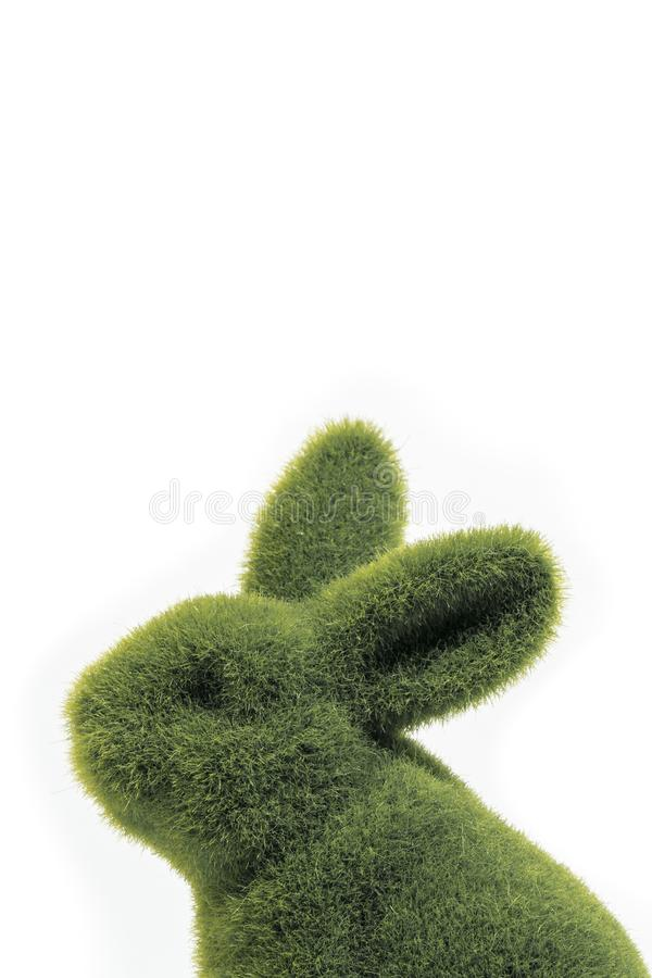 O fim do coelhinho da Páscoa verde acima foto de stock royalty free