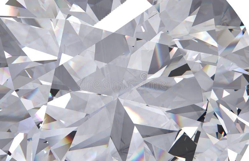 O fim realístico da textura do diamante acima, 3D rende foto de stock
