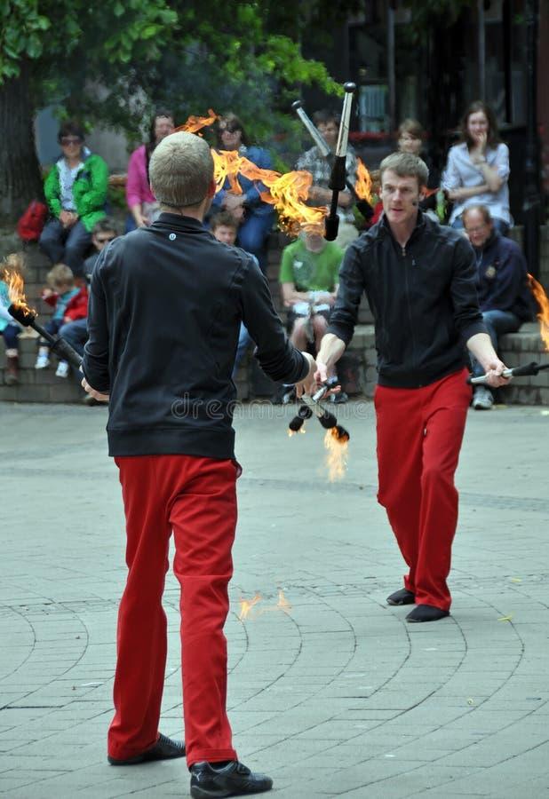 O flash, festival dos Buskers do mundo, Christchurch imagem de stock royalty free