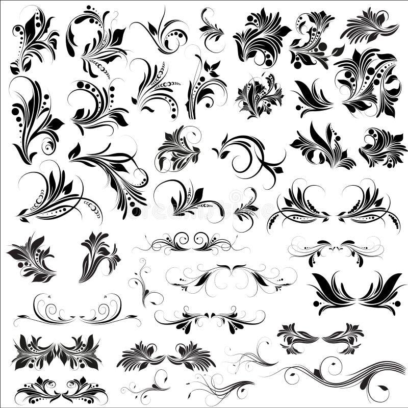 O Flourish Vectors elementos ilustração royalty free