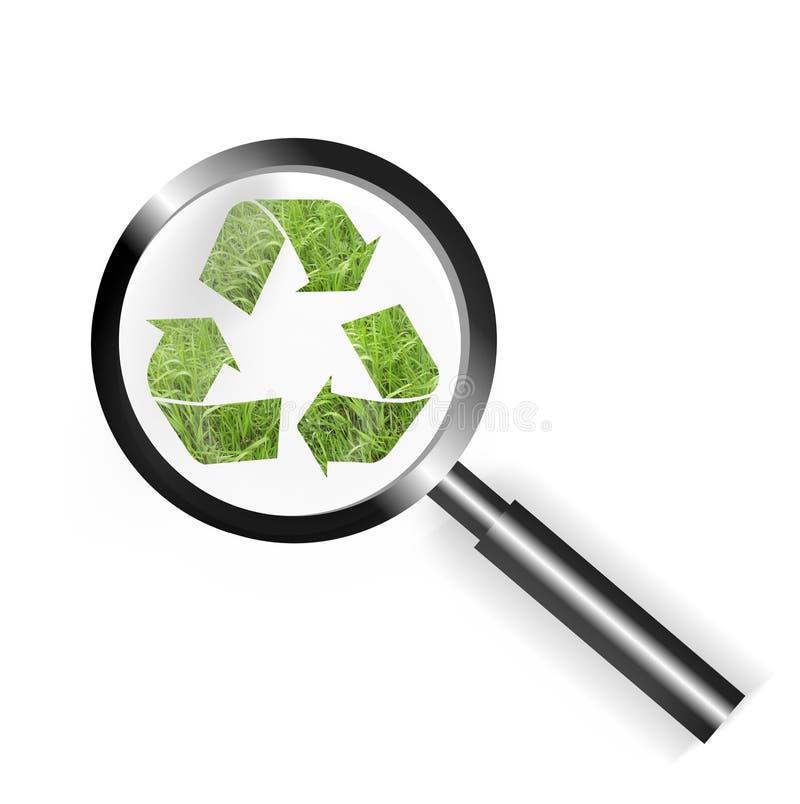 O foco recicl ilustração stock