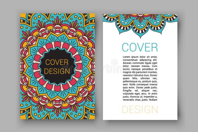 O folheto da ramadã pagina a ilustração do vetor do ornamento cartão retro decorativo para a cópia ou o design web ilustração royalty free
