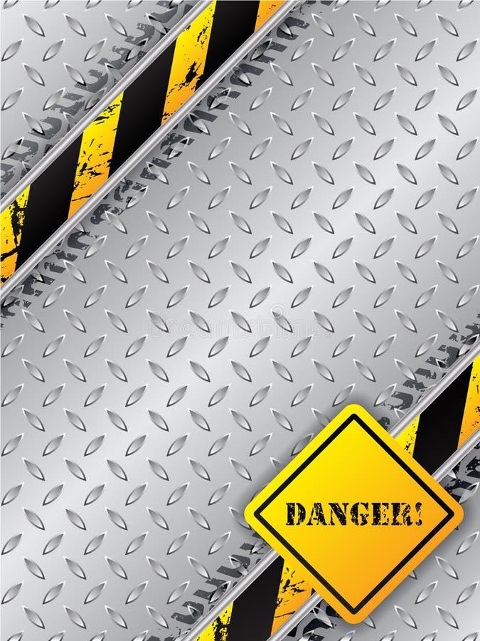 O folheto industrial abstrato com pneu segue a placa metálica ilustração do vetor