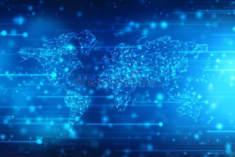 2.o fondo del extracto del mapa del mundo del ejemplo stock de ilustración