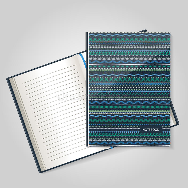 O formulário para um caderno, o log diário ilustração do vetor