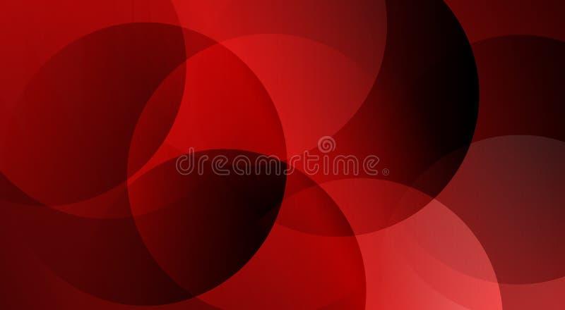 O forro abstrato vermelho derramou o papel de parede do fundo de 3 d ilustração stock