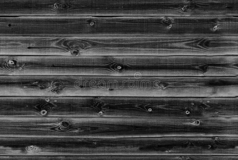 O forro de madeira embarca a parede textura de madeira preta, cinzenta painéis velhos do fundo, teste padrão sem emenda Pranchas  imagens de stock royalty free