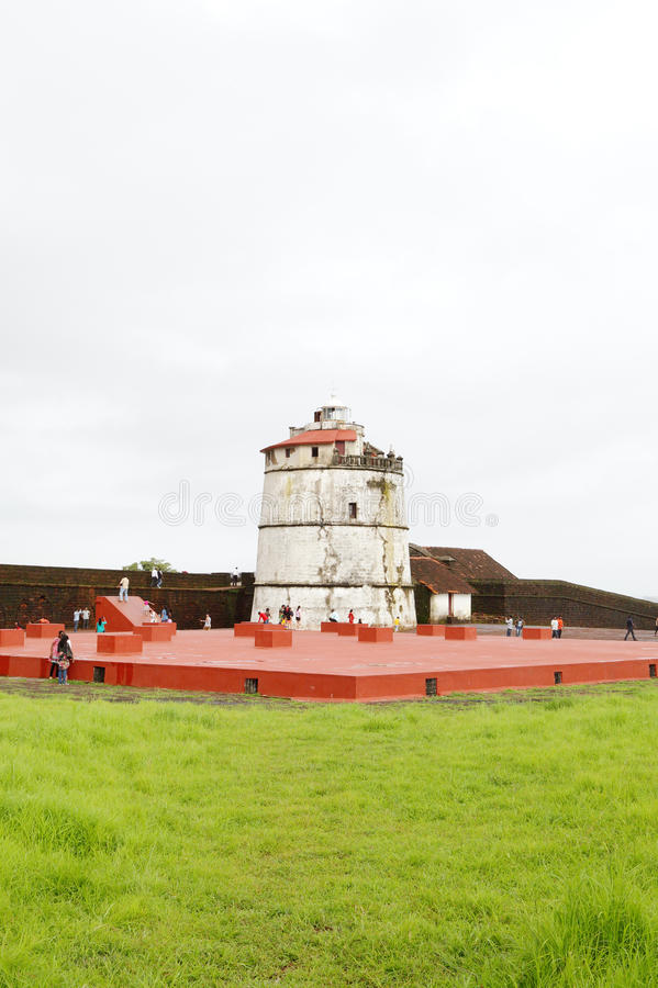 O forte Aguada é um português do século XVII bem conservado f fotografia de stock royalty free