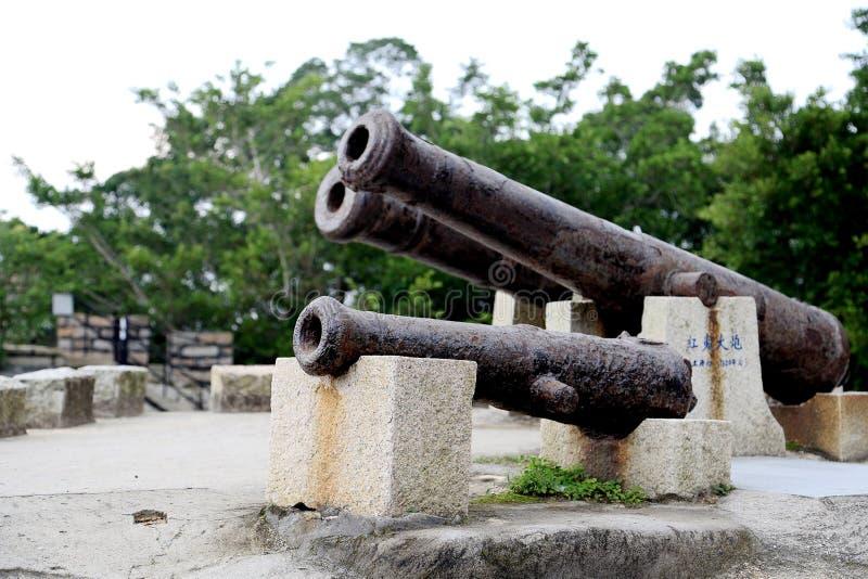 O forte antigo em xiamen, fujian fotografia de stock