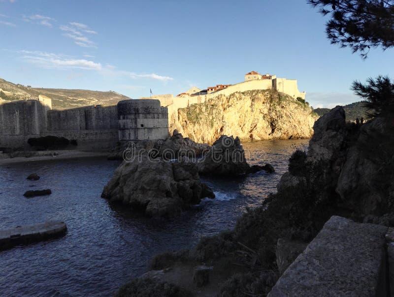 O forte Bokar, fortaleza de Dubrovnik, Croácia fotos de stock