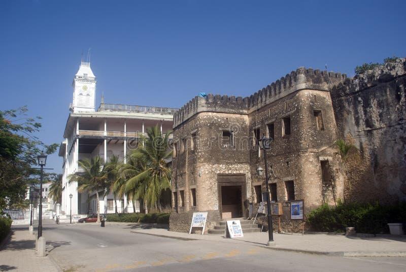 O forte velho, cidade de pedra, Zanzibar fotografia de stock royalty free