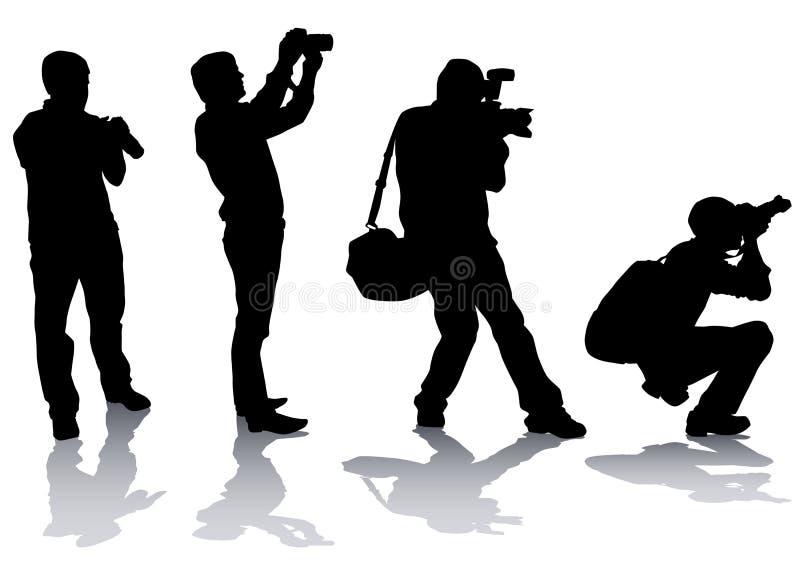 O fotógrafo equipa ilustração royalty free