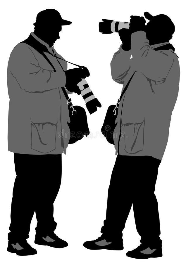 O fotógrafo equipa ilustração do vetor