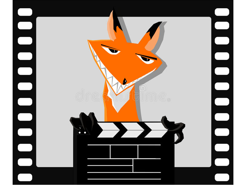 O Fox no filme foto de stock