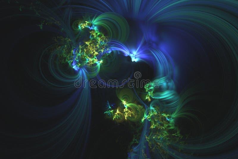O fractal abstrato ilustrou o papel de parede rendido fundo imagens de stock royalty free